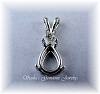 PEAR WIRE BASKET PENDANT W/ONE ACCENT - SERIES 001-061